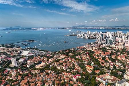 鸟瞰栈桥湾图片