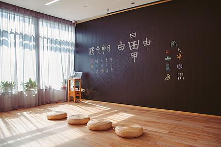 干净明亮的教室图片