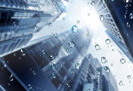 雨天城市图片