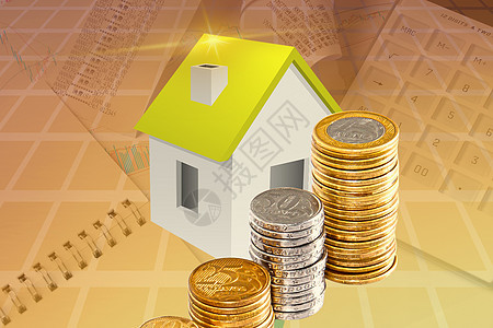 金币与房子下载图图片