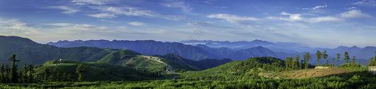 山顶全景风光图片