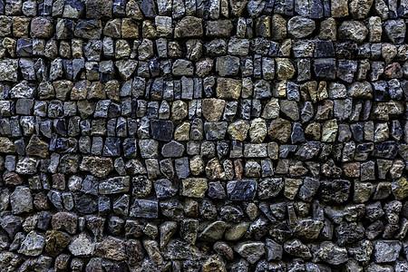 七彩石砌墙面素材图片