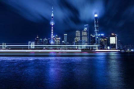 上海大气城市夜景陆家嘴图片