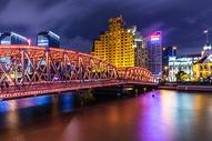 上海美丽夜景外白渡桥图片