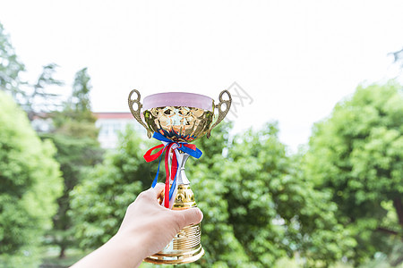 校园竞赛奖杯素材图片