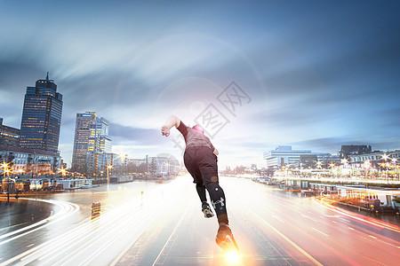 奔跑人生图片