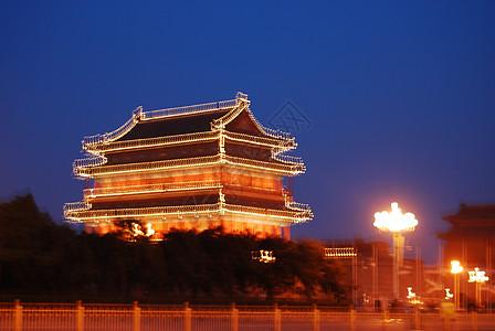 天安门广场夜景图片
