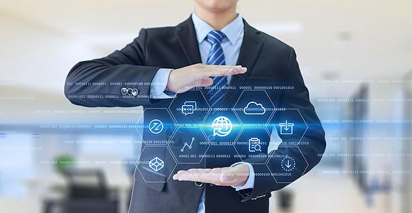 现代商务网络科技信息技术图片