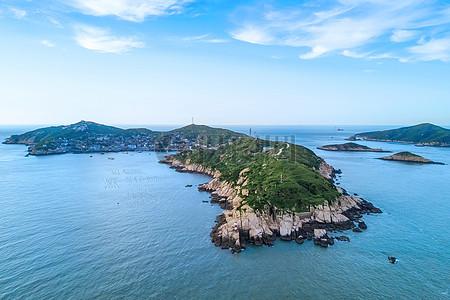 鸟瞰海岛图片