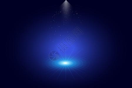 蓝色聚光背景图片