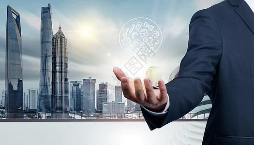 现代化 城市科技素材背景图片