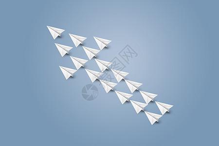 创意纸飞机箭头图片