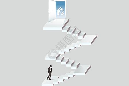攀登的商务人图片