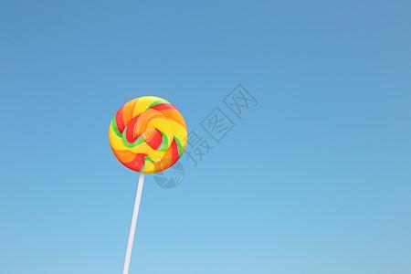 儿童节彩虹棒棒糖图片