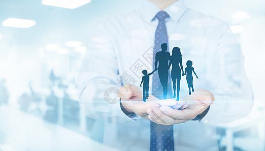 商人与家庭服务的概念图片