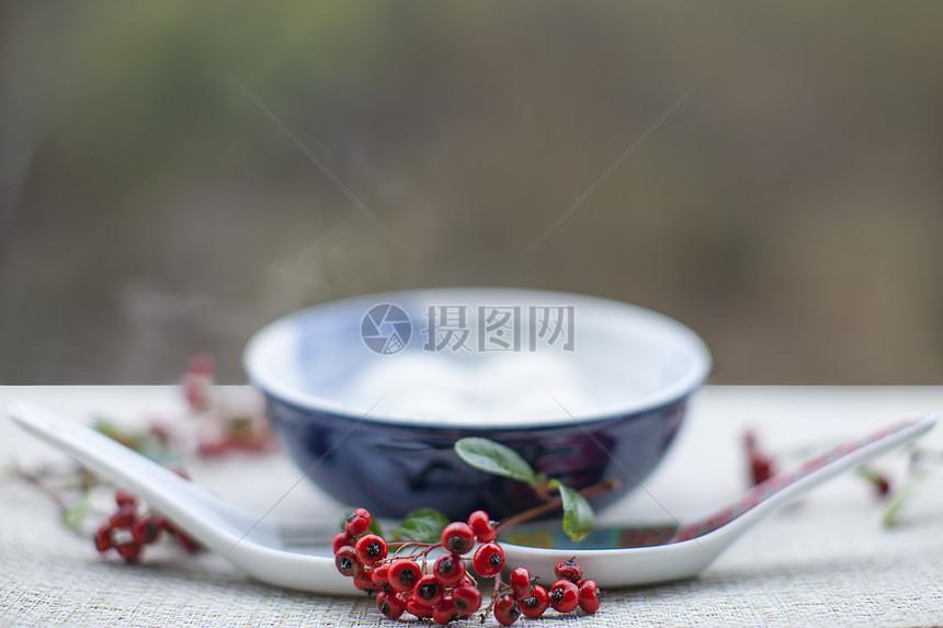 节日美食汤圆背景图片