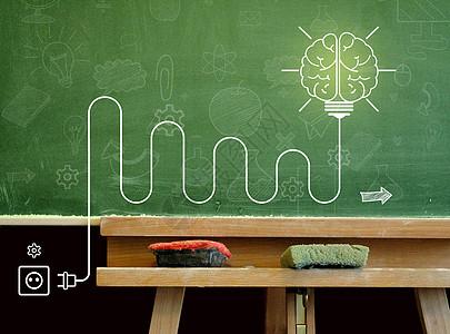 大脑灯泡电路图片