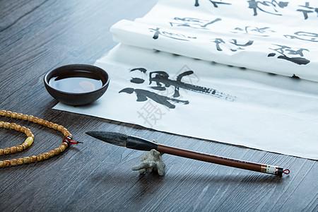 毛笔书法传统文化素材图片