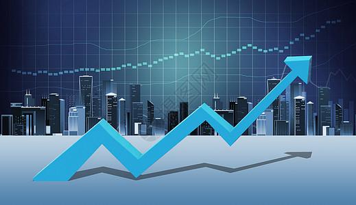 上涨的股市图片
