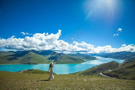 羊卓雍措西藏羊湖图片