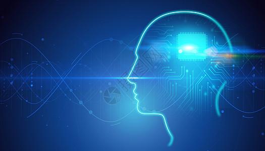 人工智能蓝色背景图片