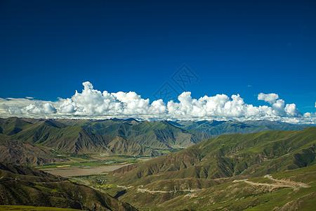 西藏山脉天路图片