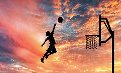 打篮球的人图片