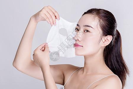 女生用面膜图片