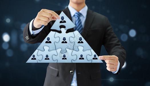 领导层和企业层级概念图片