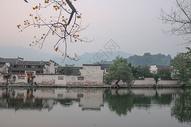 安徽宏村水墨古镇意境风景图片