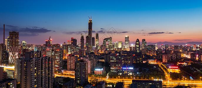 北京城市风光建筑繁华CBD国贸图片