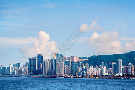 香港城市维多利亚海港全景图片