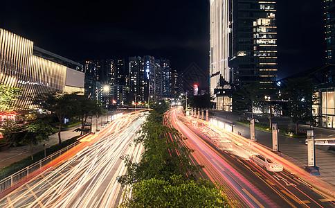 城市车轨夜景图片图片
