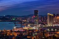 星海湾夜景图片