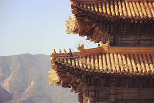 清东陵中轴线上的建筑特写图片