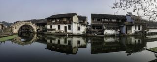 安昌古镇的早晨图片