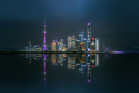 上海外滩陆家嘴夜景图片