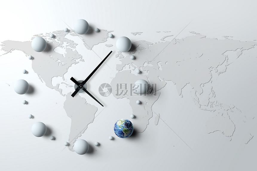 创意地球时钟图片