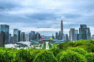 深圳城市建筑云朵天际线背景图片