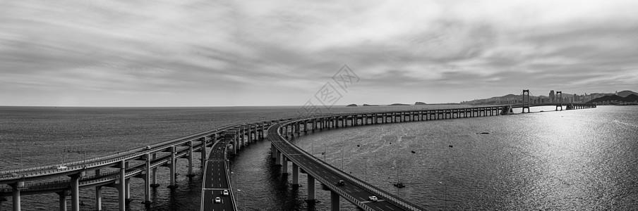 黑白星海湾跨海大桥图片