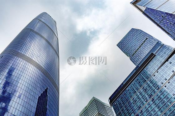 CBD新城雄伟的高楼大厦图片