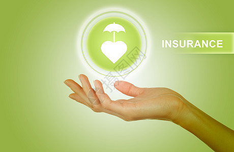 绿色背景保险图片