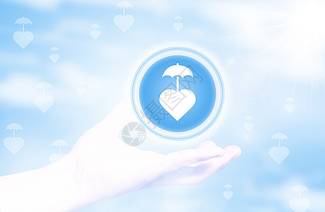 阳光下的保险  透明保险图片