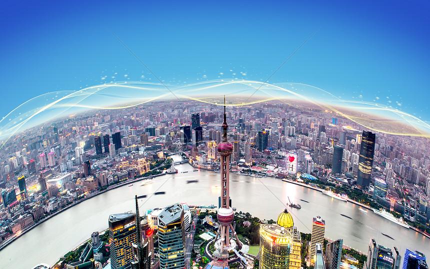 科技线条城市背景图片图片