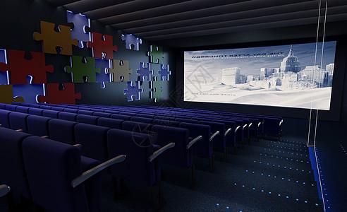 高清电影院包间效果图图片