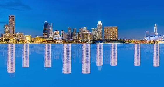 城市倒影图片
