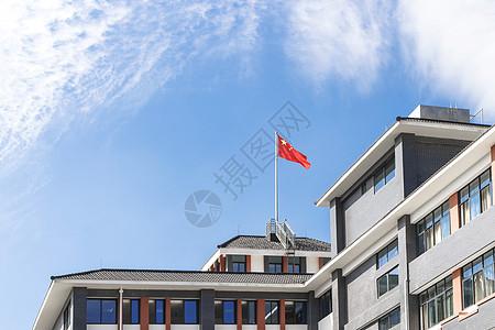 新学期校园一景图片