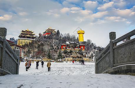 雪后初晴的鸡鸣寺图片