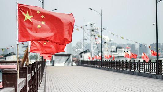 码头国旗图片