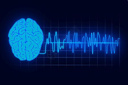 人脑与电波图片